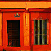 Tangerine Casa By Michael Fitzpatrick Print by Mexicolors Art Photography