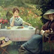 Tea Time Print by Jacques Jourdan
