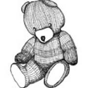 Teddy Bear Print by Karl Addison