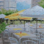 Terrace Cafe Print by Robert Rohrich