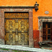 Terracotta Wall 1 Print by Mexicolors Art Photography