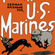 Teufel Hunden - German Nickname For Us Marines Print by War Is Hell Store