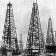 Texas: Oil Derricks, C1901 Print by Granger