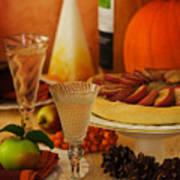 Thanksgiving Table Print by Amanda Elwell