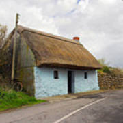 Thatch Roof Cottage Galway Print by Pierre Leclerc Photography