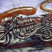 The Alien Bike Print by Russell Pierce