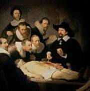 The Anatomy Lesson Of Doctor Nicolaes Tulp Print by Rembrandt Harmenszoon van Rijn