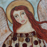 The Angel Of Hope Print by Rain Ririn