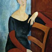 The Artist's Wife Print by Amedeo Modigliani