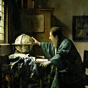 The Astronomer Print by Jan Vermeer