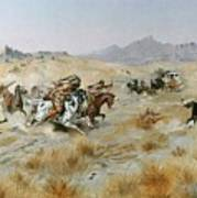 The Attack Print by Charles Marion Russell