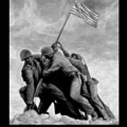 The Battle For Iwo Jima By Todd Krasovetz Print by Todd Krasovetz