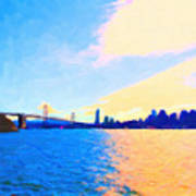 The Bay Bridge And The San Francisco Skyline Print by Wingsdomain Art and Photography
