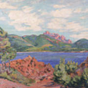 The Bay Of Agay Print by Jean Baptiste Armand Guillaumin
