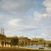 The Beach At Egmond An Zee Print by Salomon van Ruysdael