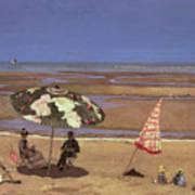 The Beach Print by Etienne Moreau Nelaton