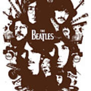 The Beatles No.15 Print by Unknow
