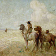 The Bison Hunters Print by Nathaniel Hughes John Baird