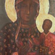 The Black Madonna Of Jasna Gora Print by Russian School