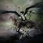 The Black Swan Print by Mary Hood