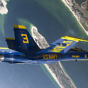 The Blue Angels Perform A Looping Print by Stocktrek Images