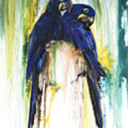 The Blue Parrots Print by Anthony Burks Sr
