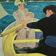 The Boating Party Print by Mary Stevenson Cassatt