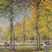 The Bois De Boulogne Print by Alfred Sisley