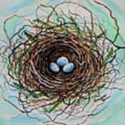 The Botanical Bird Nest Print by Elizabeth Robinette Tyndall