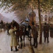 The Boulevards Print by Jean Beraud