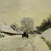 The Cart Print by Claude Monet