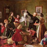 The Christmas Hamper Print by Robert Braithwaite Martineau