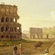 The Colosseum Print by John Inigo Richards