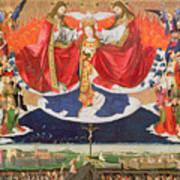 The Coronation Of The Virgin Print by Enguerrand Quarton