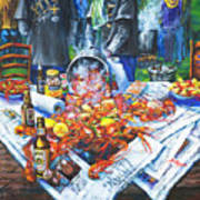 The Crawfish Boil Print by Dianne Parks
