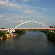 The Cumberland River In Nashville Print by Susanne Van Hulst