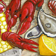 The Daily Seafood Print by JoAnn Wheeler