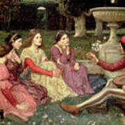 The Decameron Print by John William Waterhouse