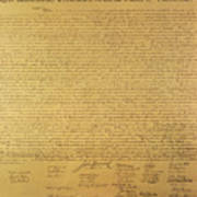 The Declaration Of Independence Print by Founding Fathers