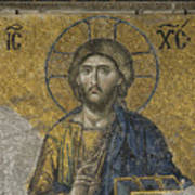 The Dees Mosaic In Hagia Sophia Print by Ayhan Altun