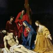 The Descent From The Cross Print by Nicolas Tournier