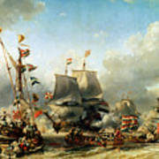 The Embarkation Of Ruyter And William De Witt In 1667 Print by Louis Eugene Gabriel Isabey