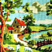 The Farm House Print by Farah Faizal
