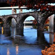 The Five Bridges - East Falls - Philadelphia Print by Bill Cannon