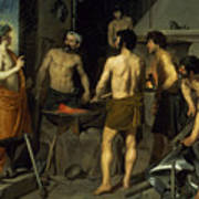 The Forge Of Vulcan Print by Diego Velazquez