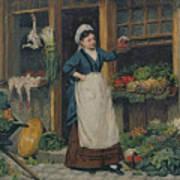 The Fruit Seller Print by Victor Gabriel Gilbert