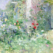The Garden At Bougival Print by Berthe Morisot