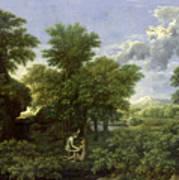 The Garden Of Eden Print by Nicolas Poussin