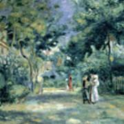 The Gardens In Montmartre Print by Pierre Auguste Renoir