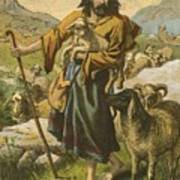 The Good Shepherd Print by English School